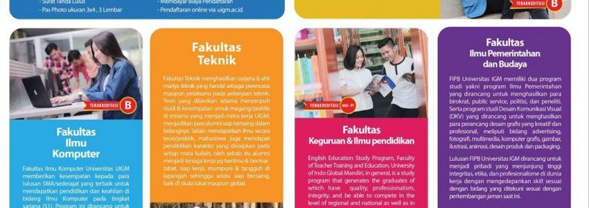 Pendaftaran Mahasiswa Baru Universitas Indo Global Mandiri Tahun Ajaran 2018-2019